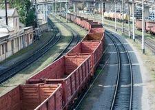 Het landschap van de spoorweg Stock Afbeeldingen