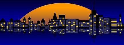 Het landschap van de stad. Royalty-vrije Stock Afbeelding