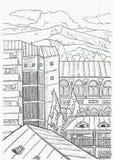 Het landschap van de stad Royalty-vrije Stock Afbeeldingen