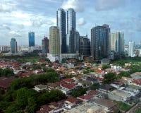 Het landschap van de stad Stock Foto's