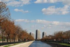 Het landschap van de stad Stock Afbeeldingen