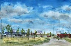 Het landschap van de stad Royalty-vrije Stock Afbeelding