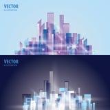 Het landschap van de stad vector illustratie