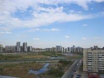 Het landschap van de stad Stad heilige-Petersburg Lang Meer stock foto's