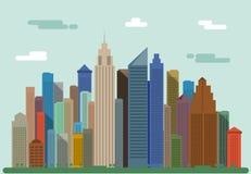 Het landschap van de stad Het panorama van de stad vector illustratie