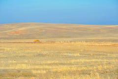 Het landschap van de steppe Stock Afbeeldingen