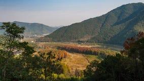 Het landschap van de Taizhouherfst royalty-vrije stock afbeeldingen