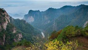 Het landschap van de Taizhouherfst royalty-vrije stock afbeelding