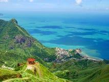 Het landschap van de theepotberg, Taiwan Stock Afbeeldingen