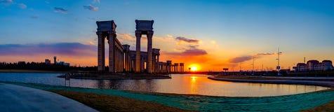 Het landschap van de Tianjinstad van de stad, China Stock Foto