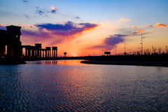 Het landschap van de Tianjinstad van de stad, China Stock Foto's