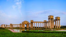 Het landschap van de Tianjinstad van de stad, China Royalty-vrije Stock Afbeeldingen