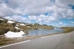 Het landschap van de toendra in Noorwegen Stock Afbeelding