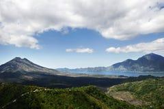 Het Landschap van de vulkaan in Bali Indonesië Royalty-vrije Stock Afbeeldingen