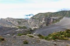 Het Landschap van de Vulkaan van Irazu stock foto's