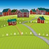 Het landschap van de 01 Wegenstad Stock Afbeeldingen