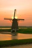 Het landschap van de windmolen stock foto's