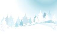 Het landschap van de winter stock illustratie