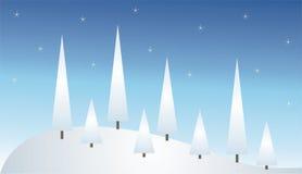 Het landschap van de winter royalty-vrije illustratie