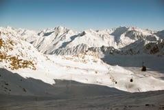 Het landschap van de winter in Alpen Royalty-vrije Stock Fotografie