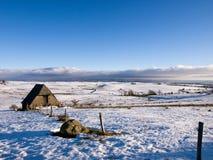 Het landschap van de winter in Auvergne (Frankrijk) Royalty-vrije Stock Afbeelding