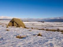 Het landschap van de winter in Auvergne (Frankrijk) Stock Afbeelding