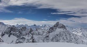 Het landschap van de winter in de Alpen royalty-vrije stock afbeelding