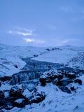 Het landschap van de winter in IJsland stock fotografie