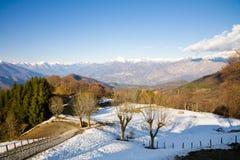 Het landschap van de winter, Meer Como royalty-vrije stock fotografie