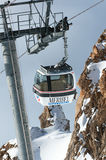 Het landschap van de winter, Meribel, Frankrijk royalty-vrije stock foto's