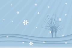 Het landschap van de winter (vector) stock illustratie