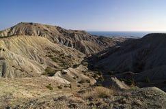 Het landschap van de woestijn in de KrimBergen. Stock Afbeelding