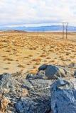 Het Landschap van de woestijn dichtbij Ridgecrest royalty-vrije stock foto's
