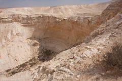 Het landschap van de woestijn, Negev, Israël Stock Afbeeldingen