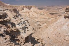 Het landschap van de woestijn, Negev, Israël Stock Fotografie