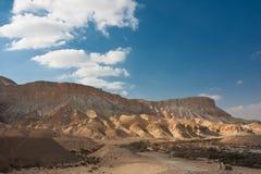Het landschap van de woestijn, Negev, Israël Stock Foto's