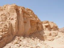 Het landschap van de woestijn van Sinai Schiereiland Royalty-vrije Stock Foto