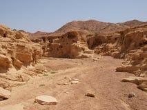 Het landschap van de woestijn van Sinai Schiereiland Stock Afbeelding