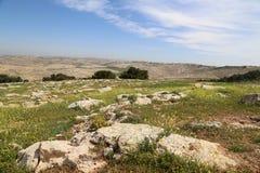 Het landschap van de woestijnberg (luchtmening), Jordanië, Midden-Oosten Royalty-vrije Stock Afbeelding