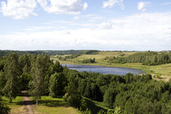 Het landschap van de zomer stock foto