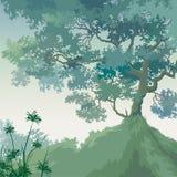 Het landschap van de zomer royalty-vrije illustratie