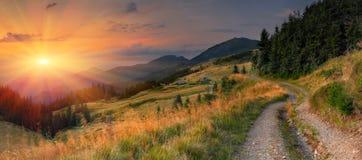 Het landschap van de zomer in de bergen royalty-vrije stock foto's