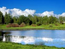 Het landschap van de zomer dichtbij Smolensk, Rusland Royalty-vrije Stock Fotografie