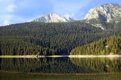 Het landschap van de zomer met meer en blauwe hemel Royalty-vrije Stock Foto