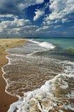 Het landschap van de zomer op beachcoast Stock Afbeelding