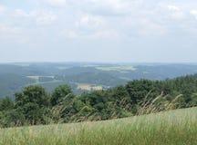 Het landschap van de zomer in Thuringia Royalty-vrije Stock Fotografie
