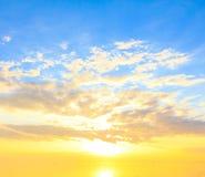 Het landschap van de zonsondergang Royalty-vrije Stock Afbeelding