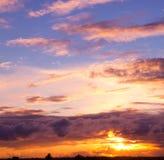 Het landschap van de zonsondergang Royalty-vrije Stock Foto