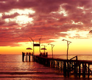 Het landschap van de zonsondergang Royalty-vrije Stock Foto's