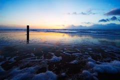 Het landschap van de zonsondergang stock afbeeldingen